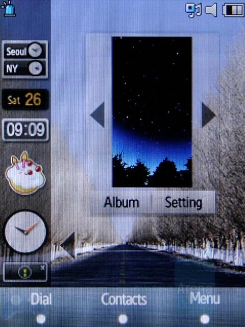 Widgets - Samsung SGH-F480 Preview