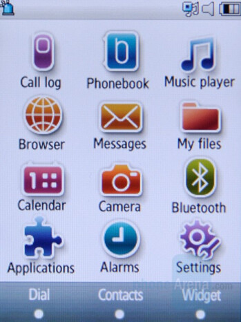 Home screen and Main menu - Samsung SGH-F480 Preview
