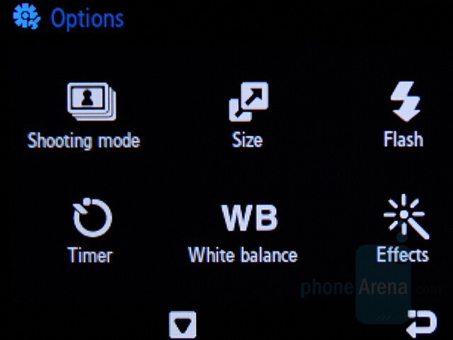 Camera interface - Samsung SGH-F480 Preview