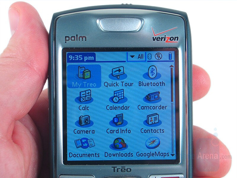 Touch display - Palm Treo 755p Review