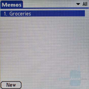 Memos - Palm Treo 755p Review