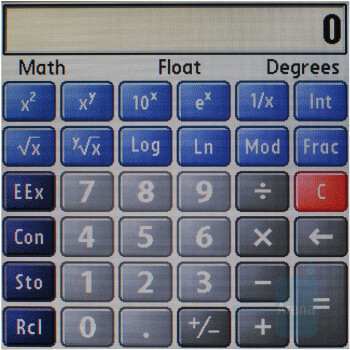 Calculator - Palm Treo 755p Review