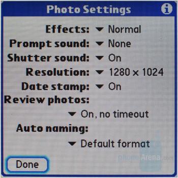 Camera interface - Palm Treo 755p Review
