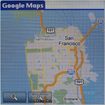 Google Maps - Palm Treo 755p Review