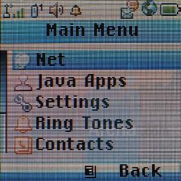 Main menu - Motorola i335 Review