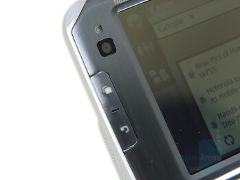 Camera, Home and Back keys - Nokia N810 Internet Tablet Review