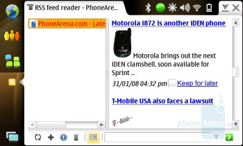 RSS reader - Nokia N810 Internet Tablet Review