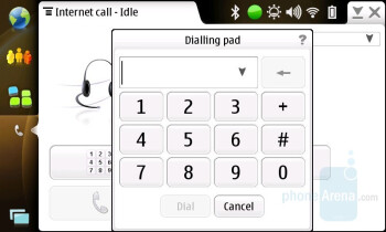 Internet call application interface - Nokia N810 Internet Tablet Review