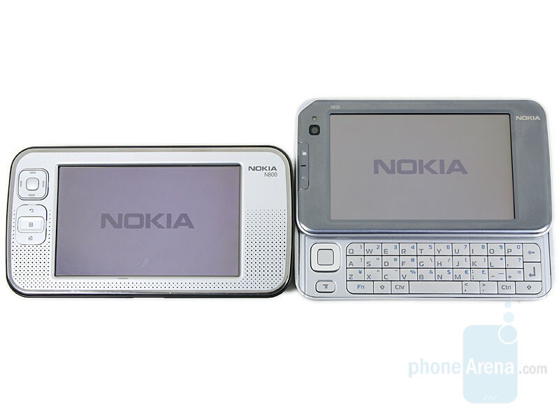 Nokia N800 next to Nokia N810 - Nokia N810 Internet Tablet Review