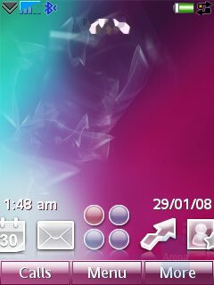 Home screen - Sony Ericsson G700 Preview