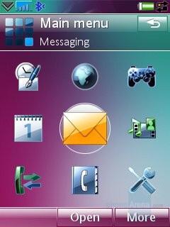 Main menu - Sony Ericsson G700 Preview