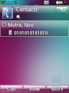 Contacts - Sony Ericsson G700 Preview