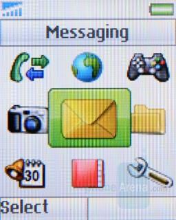 Main menu - Sony Ericsson Z320 Review