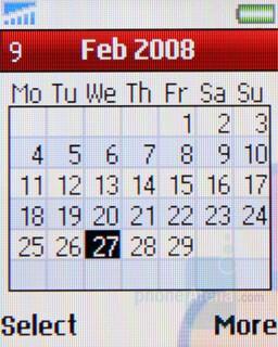 Calendar - Sony Ericsson Z320 Review