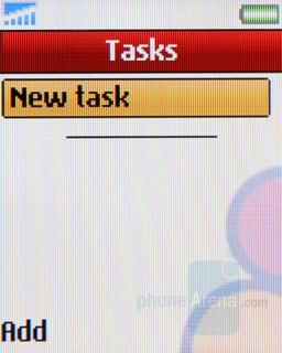 Tasks - Sony Ericsson Z320 Review