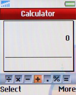 Calculator - Sony Ericsson Z320 Review