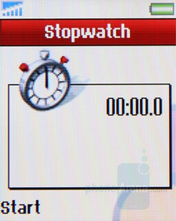 Stopwatch - Sony Ericsson Z320 Review
