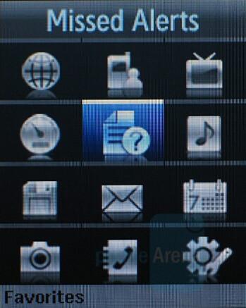 Main menu - Samsung SPH-M520 Review