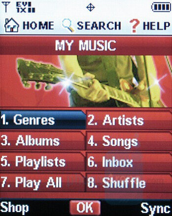 Music player - Samsung SCH-U550 Review
