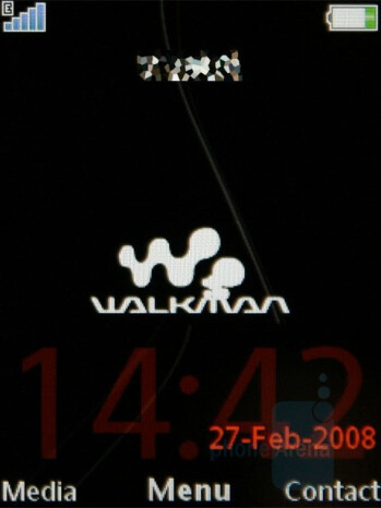 Home screen - Sony Ericsson W890 Review