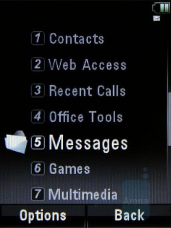 Vertical list - Main menu - Motorola MOTO U9 Review