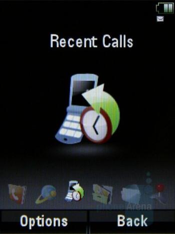 Spinner - Main menu - Motorola MOTO U9 Review