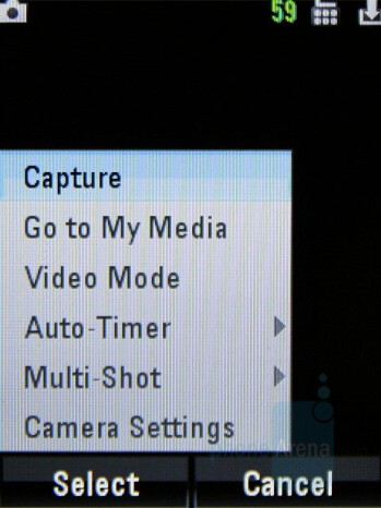 Camera interface - Motorola MOTO U9 Review