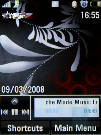 Minimized - Music player - Motorola MOTO U9 Review