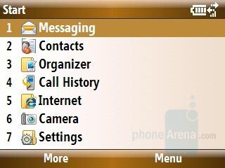 List view - Start menu - Samsung Ace Review