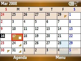 Calendar - Samsung Ace Review