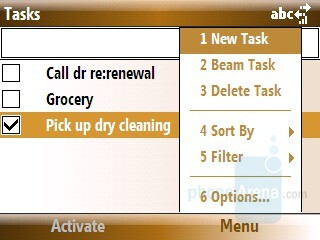 Tasks - Samsung Ace Review
