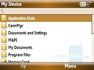 File explorer - Samsung Ace Review