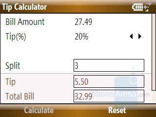 Tip calculator - Samsung Ace Review