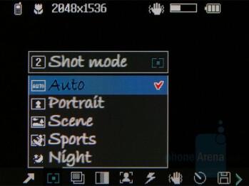 Camera interface - LG KF600 Review