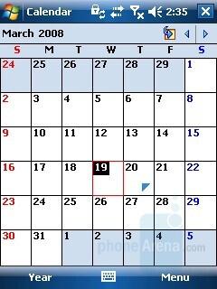 Calendar - HP iPAQ 614 Review
