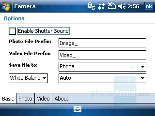 Camera interface - HP iPAQ 614 Review