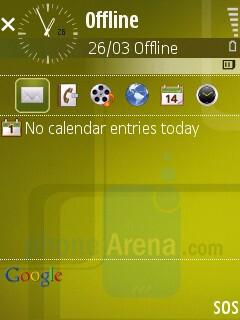 Home screen - Samsung SGH-G810 Preview
