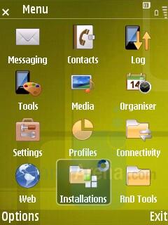 Main menu - Samsung SGH-G810 Preview