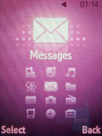Main menu - Samsung SGH-F400 Preview