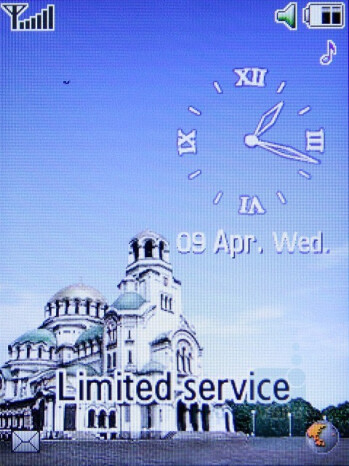 Home screen - Samsung SGH-L770 Preview