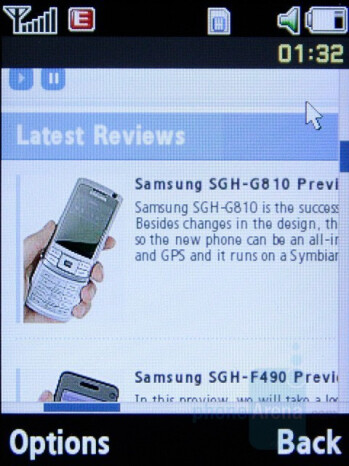 Internet browser - Samsung SGH-L770 Preview