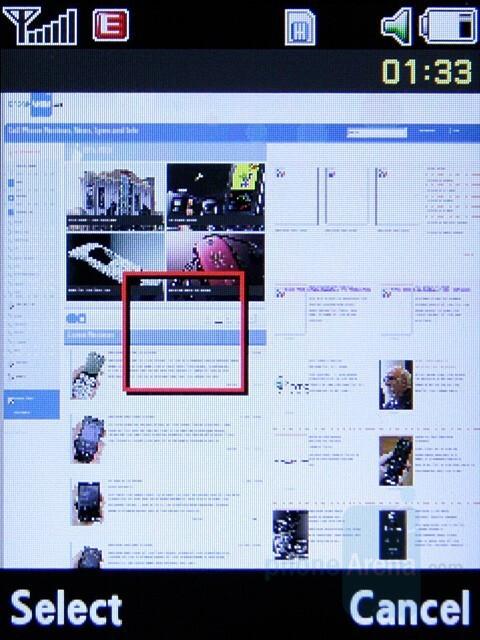 Internet browser - Samsung SGH-L770 Preview