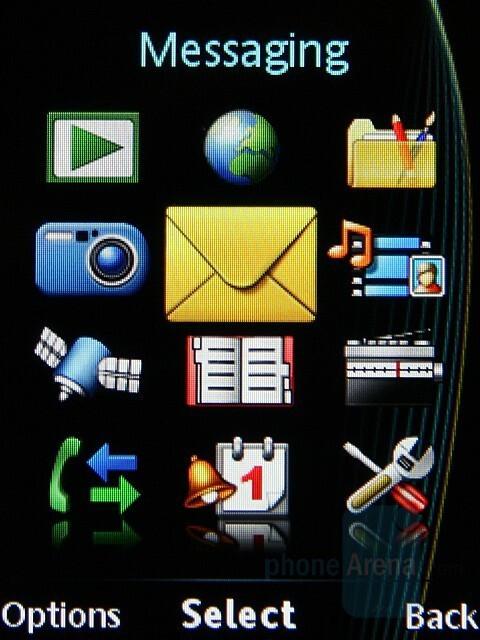 Main menu - Sony Ericsson C702 Preview
