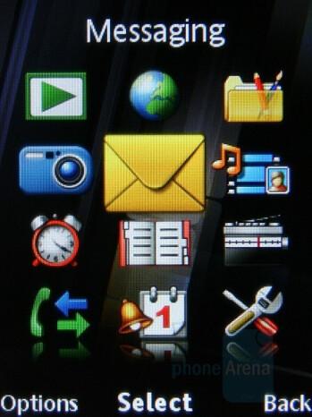 Main menu - Sony Ericsson C902 Preview