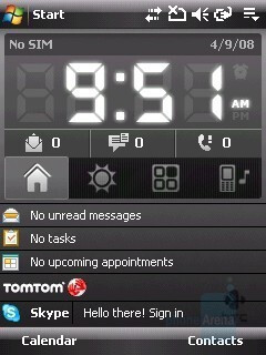 Home Screen - HTC Touch Cruise Review