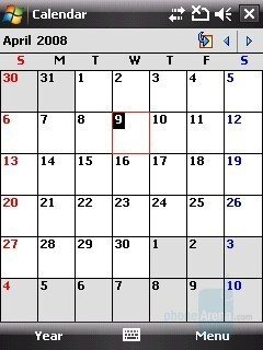 Calendar - HTC Touch Cruise Review
