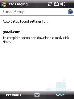 E-mail setup - HTC Touch Cruise Review