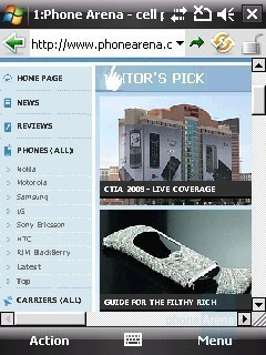 Opera browser - HTC Touch Cruise Review