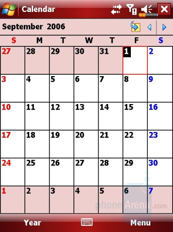 Calendar - Eten M800 Review