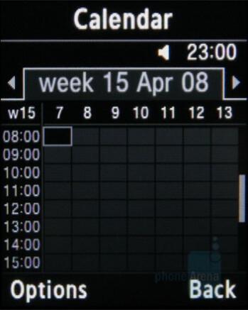 Calendar - Samsung miCoach Review